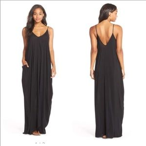 Elan Black Maxi Dress Swim Cover Up Plus Size 2X